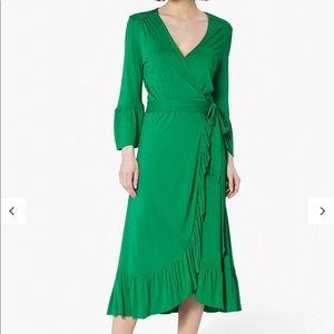 L.K. Bennett Vika Wrap Dress, Fern Green.